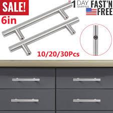 modern stainless steel kitchen cabinet pulls details about 6in stainless steel t bar modern kitchen cabinet door handles drawer pulls knobs