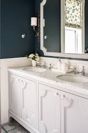 light gray and blue bathroom color scheme transitional bathroom