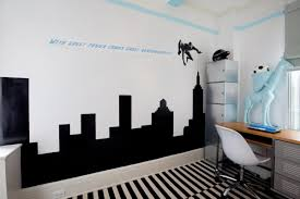 Kids City Rug by Bedroom Awesome Spiderman Room Ideas With Striped Rug And White
