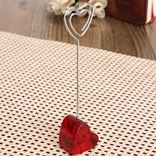 red heart stand iron clip card stand photo card holder memo paper