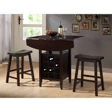 ksp tacoma pub table with 2 stools set of 3 black kitchen