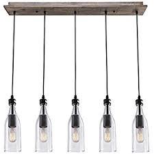 Wood Pendant Light Lnc Wood Pendant Lighting 5 Light Ceiling Lights Linear Chandelier