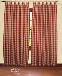 Navy Buffalo Check Curtains Tab Top Curtain Window Panels