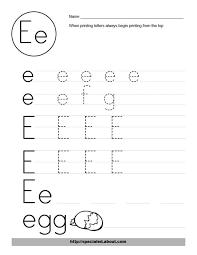 7 best images of free printable preschool worksheets letter e