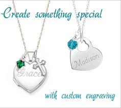 custom engraved pendant kids engraved necklaces personalized necklaces