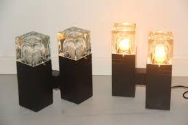 set de table vintage lampes de table vintage cubique en verre murano par gaetano