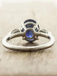 stone rings design images Permelia sapphire oval sapphire three stone ring ken dana design jpg
