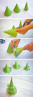 Paper Craft Steps - the cutest paper trees onecreativemommy