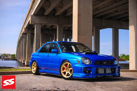 subaru impreza modified blue subaru impreza 2g tuning