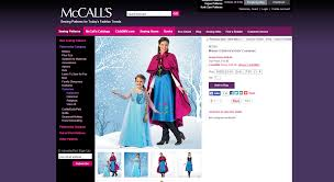 Curtain Call Costumes Size Chart by Elsa From Frozen Costume Prep List Sewing Parts Online