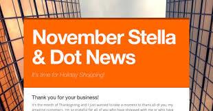 november stella dot news smore