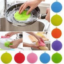 vaisselle cuisine multifonction silicone vaisselle brosse de nettoyage éponge cuisine