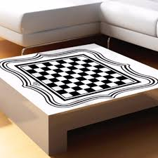 international chess board tea table glass desktop vinyl sticker