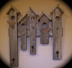 rustic coat hat rack reclaimed wood bird house design entry wall