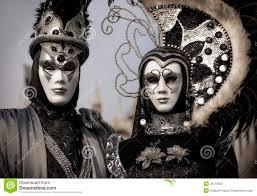 venetian costume venetian in black and silver costume stock image image of