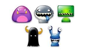 put desktop free monster icons naldz