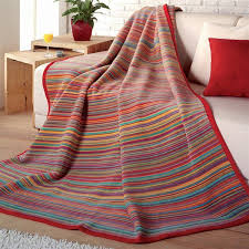 ibena ibena messina sunset stripe throw blankets throws