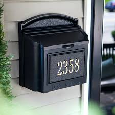 personalized wall mount mailbox u2013 monicarettig com
