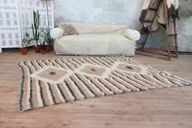 pink peach area rug scandinavian decor home wool area rug