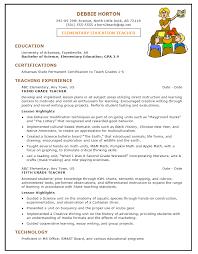 sample cv for teacher job elementary teacher resume objective templates memberpro co