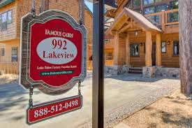 famous cabin lake tahoe luxury vacation rental