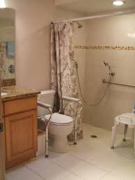 Handicap Accessible Bathroom Designs Handicap Bathroom With Tile Shower Remodel Before And After