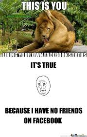 Meme Your Own Photo - rmx liking your own facebook status by slick richie meme center