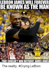 Lebron James Crying Meme - lebron james will forever be known as the man cavs 22