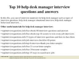 help desk manager job description help desk manager job description top interview questions and