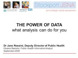 Dr Banister The Power Of Data What Analysis Can Do For You Dr Jane Rossini