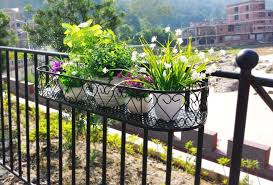 wrought iron hanging planters outdoor into the glass learning
