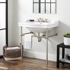 cierra large porcelain console sink with brass stand bathroom