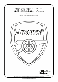 cool coloring pages soccer club logos arsenal f c logo