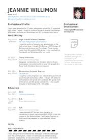 Elementary Teacher Resume Examples by Science Teacher Resume Samples Visualcv Resume Samples Database
