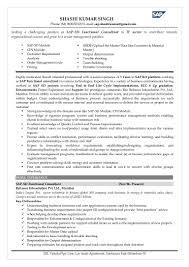Sample Resume For Senior Management Position by Sap Sd Sample Resume Free Resume Example And Writing Download