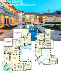 large luxury house plans luxury villa plans designs plan 36121tx rear facing oasis with
