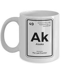 Periodic Table Coffee Table Alaska Periodic Table Coffee Mug Last Frontier State Gift Ebay