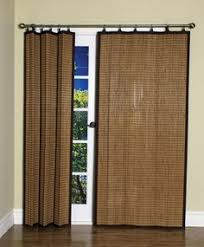 banded bamboo panel family room sliding glass door home is