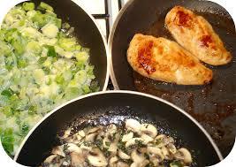 cuisiner poireaux poele suprême de poulet fondue de poireau et chignons