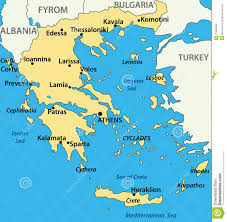 Map Of Athens Greece by Greece Map Of The Country Vector Stock Images Image 21966064