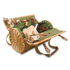 wine picnic baskets time verona willow wicker shoulder bag picnic basket pine green