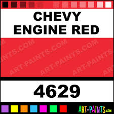 chevy engine red artist acrylic paints 4629 chevy engine red