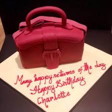 handcrafted handbag birthday chocolate fudge cake local