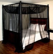 Black Canopy Bed Wonderful Black Canopy Bed Vine Dine King Bed Make Curtain