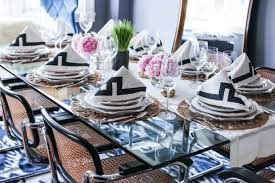 spring dinner party at our home memorandum nyc fashion dinner party with greek key napkins