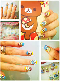 kawaii nails from peaches and cream hawaii kawaii blog