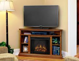 corner electric fireplace tv stand oak doherty house amazing