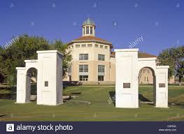 New Mexico State House Miller Field Gates Stand Proud In Front Of Skeen Hall On The