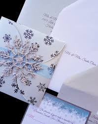 snowflake wedding invitations custom blue and silver sparkle snowflake wedding