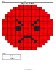 emoji color number coloring squared
